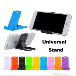 Wholesale Tablet Cradle - Universal Universal Mount Holder Foldable Adjustable Stand Holder Cradle Compact Plastic For iPhone Samsung Mobile Cellphone phone Tablet