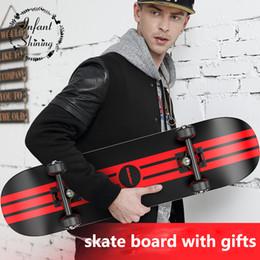 Wholesale Maple Skate - Wholesale- Professional Four Wheel Skateboard Double Rocker Road Skate Adult Children 4 Wheels Skateboard Professional Maple Scooter