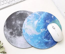 Wholesale Small Laptop Mouse - The institute planet mouse pad super soft natural rubber cushion small and fresh round laptop pad - Free Shipping + Free Gift