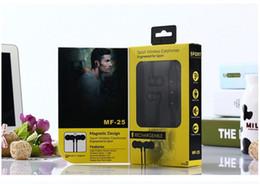 Wholesale Mf Black - Newest The MF-25 sport wireless earphones sports for sport metal magnetic sorption bluetooth headset bluetooth V4.2 stereo sport earphone