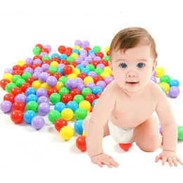 Wholesale Outdoor Baby Toys - 200pcs lot Eco-Friendly Ocean Ball Colorful Soft Plastic Water Pool Ocean Wave Ball Baby Funny Toys Stress Air Ball Outdoor Kids Fun Sports