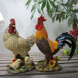 Wholesale Rooster Craft - Lucky cock Rooster hen auspicious ornaments European high-grade animal crafts and gifts of evil evil