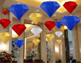 Wholesale Craft Parties - big diamond decoration 3d diamond household decoration wedding decor crafts diamond christams hangings festival decoration party hangings