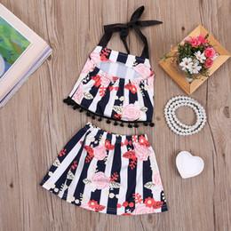 Wholesale Toddler Western Dress - Newborn Baby Girl Clothes Toddler Designer Girls Clothing Set Porn Dress Outfit Next Kids Suit Slip Tops Skirt Black Fringe Western Dresses