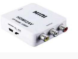 Wholesale Adapter Rca Male Female Quality - TOP quality HDMI2AV 1080P HD Video Adapter mini HDMI to AV Converter CVBS+L R HDMI to RCA Free DHL Shipping 2017