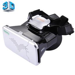 Cinema virtual on-line-Atacado-RITECH RIEM3 3D VR Realidade Virtual Headset Móvel 360 Graus Vedio Óculos de Cinema Privado Capacete com AR Aumentar a Realidade Da Janela
