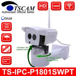 Wholesale 2mp Wireless Ip Outdoor Camera - TSCAM new SP-P1801SWPT MINI PTZ Bullet IP Camera 1080P Full HD 2MP Wireless Wifi Outdoor Waterproof IR Micro SD Card Slot P2P