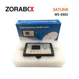 Wholesale Satellite Meters - Original Digital satellite finder meter ws6903 Digital terrestrial signal satlink ws-6903 finder ws-6903 led displa meter