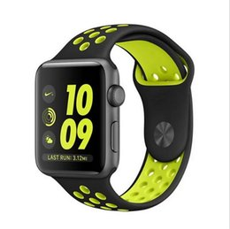 Wholesale Watches Colorful Bands - Sports NK Silicone Replacement Smart Strap Band for Apple Watch Iwatch Series 38mm 42mm Wristwatch Bracelets Band with Holes Colorful