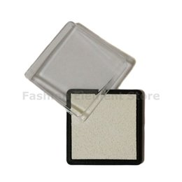 Wholesale Wholesale Ink Pads - Wholesale- 4pcs lot 4cm Scrapbooking Small Square Stamp Ink Pad Home Decor Craft Inkpad White Color Y001