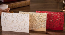 Wholesale Floral Wedding Invitation - New Champagne Floral Laser Cut Wedding Invitations Table Card Seat Card Place Card For Wedding Favors And Gifts wa3908