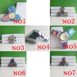 Wholesale Wholesale Alum - 2017 New Seven Types Fidget Rainbow Spinner EDC Hand Spinner Fidget Toy Good Choice For decompression Anxiety Finger Toys Rainbow Color Alum