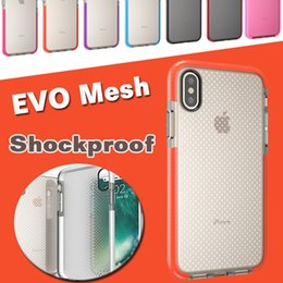 Wholesale Tpu Silicone Bumper - EVO Mesh Sport Case Soft TPU Drop Protective Silicone Pouch Shock Proof Frame Bumper Cover For iPhone X 8 7 Plus 6 6S Samsung Note 8 S8