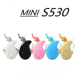 Wholesale Wholesale Bluetooth Headsets China - China Red Sport Running S530 Mini Stealth Wireless Bluetooth 4.0 Earphone Stereo Headphones music Headset Retail Box for iphone7 7plus