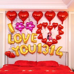 Wholesale Balloons Romantic - Romantic Wedding Bridal Metallic Balloons Anniversary Engagement Balloons For Sale Party Decoration Vow Renewal Gold Balloon