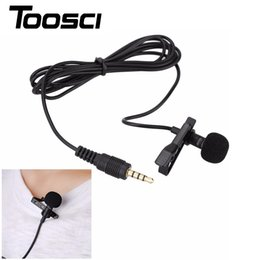 Wholesale Lavalier Microphone Wholesale - Portable Clip-on Lapel Lavalier Microphone 3.5mm Jack Hands-free Mini Wired Condenser Microphone for iphone Samsung Smartphone