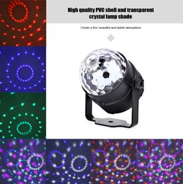 Wholesale Dj Sound Music Activated Led - Car Colorful DJ LED Light 6W Music Rhythm Sound Activated 5V Vehicle Interior Decoration Lamp Stage Lights Rotating Mini Magic 197396001