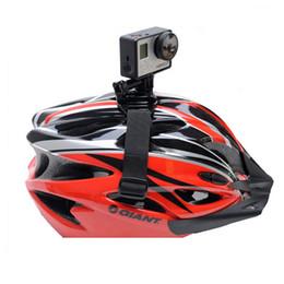 Wholesale Camera Mount Bicycle - Wholesale- Helmet Strap For Action Camera Accessories Bicycle Helmet Belt Mount For Xiaomi Yi SJCAM SJ4000 SJ5000 SJ7000