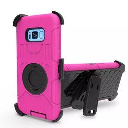 Argentina Armor Hard Case Cover + Funda con cinturón Clip Funda para Samsung Galaxy S8 Plus Funda para Galaxy s7 edge Teléfono móvil Volver Estuches Suministro