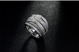 Wholesale Diamond 14kt Rings - Originality Luxury Inlaid Cz Diamond 14KT White Gold Filled Ring Engagement Wedding Band Finger Promise Ring