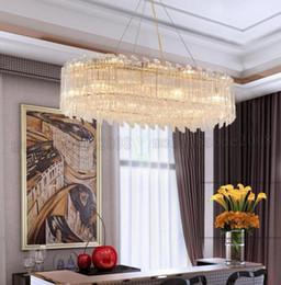 Wholesale Modern Simple Designed Chandelier - modern crystal chandeliers modern simple living room bedroom lights light design gold LED new restaurant chandeliers MYY