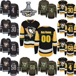 Custom Mens Womens Kids 2017-2018 New Logo Pittsburgh Penguins 4 Justin  Schultz 30 Matt Murray Daniel Sprong 58 Kris Letang Hockey Jerseys  pittsburgh ... 7eb73920e