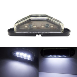 Wholesale Hid Truck Headlights - One Piece HID White 4-LED License Plate Light Lamp For Truck Pickup Cars Trailer