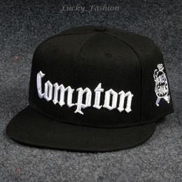 Wholesale Snapback Hats Compton - West Beach Gangsta City Crip N.W.A Eazy-E Compton Skateboard Caps Snapback Hat Hip Hop Fashion Baseball Caps Adjustable Flat-brim Punk Cap
