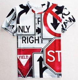 Wholesale Quality Quick Printing - tshirt New Fashion Men women 3d t shirt funny print Traffic Signs casual t-shirt good quality Tshirt tops 1803