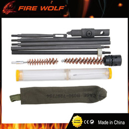 Wholesale Model Kit Set - FIRE WOLF Hunting Rifle Cleaning Kit Set Pouch For Model M1 Cleaning Pouch w Oiler for Hunting