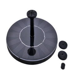 Wholesale fountain ponds - Mini Solar-power Fountain Brushless Pump Energy-saving Plants Watering Kit with Solar Panel for Bird Bath Garden Pond