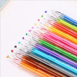 Wholesale Novelty Material - 12 Color Cute Diamond Gel Pen Art Pen Stationery Novelty Gift Caneta Papelaria Office Material Escolar School Supplies