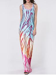 Wholesale Maxi Dresses For Sale - 2017 hot colorful striped print dress maxi dresses for womens causal summer dress hot long summer dresses sale ladies dresses fashion1616#