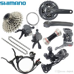 Wholesale Groupset Mountain - Shimano relief m4050 3x9 s 27 s speed mtb groupset bike with integrated hydraulic disc brake