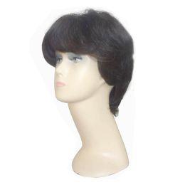 Canada Fashinable Short Straight Black Wig avec pleines franges Perruques de cheveux humains Styles de cheveux courts vous rendre plus actif Offre