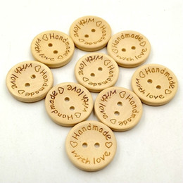 25mm Boutons En Bois 2 trous rond amour coeur pour boîte à cadeaux à la main Scrapbook Artisanat Parti Décoration bricolage favoris Couture Accessoires ? partir de fabricateur