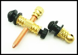 Wholesale Tattoo Bind - Wholesale- Brass Tattoo Front & Contact Binding Post Set Pro New 10 Pieces Tattoo Machine Parts Brass Copper For Machine Free Shipping