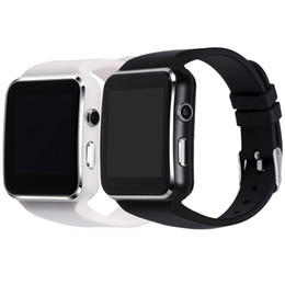 Wholesale Iphone Bluetooth Sync - 2018 Bluetooth Smart Watch X6 Smartwatch Fitness Tracker Sync Message for iPhone Android With Camera Support SIM Card TF
