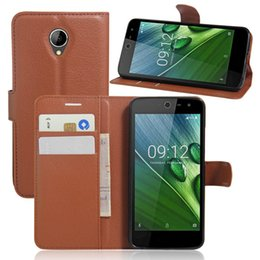 Wholesale Brand Acer - For Acer z525 Vintage Wallet Leather Phone Case For Acer Liquid Zest z525 Flip Cover Luxury Case Coque With Stand + 2 Card Slots