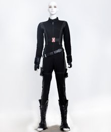 Wholesale Black Widow Cosplay - Captain America Black Widow cosplay halloween costumes