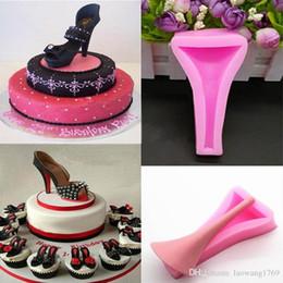 Wholesale Silicone Fondant Shoe Mould - Silicone High Heel Lady Shoe Fondant Mould Cake Decorating Wedding Mold FM1180