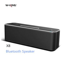 Wholesale Stereo Boom - Wholesale- W-King X8 Bluetooth Speaker Wireless Portable Altavoz Mini 3D Stereo Music Super Bass Boombox USB AUX TF in PC Boom Box