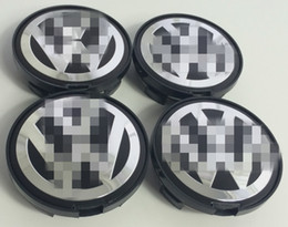 Wholesale Passat Wheel Center Cap - 4x VOLKSWA ALLOY WHEEL BADGES CENTER HUB CAPS 63mm VW Golf Passat 7D0601165