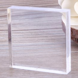 Wholesale Glass Sculptures - Wholesale- New High Quality Acrylic Transparent Clay Pottery Sculpture Tool Arts and Crafts Supplies Workbench Pressure Plate #232297