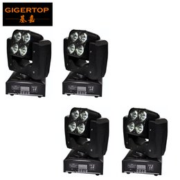 Wholesale Sound Shells - TIPTOP Mini 4XLOT 4 X 15W Led Moving Head Beam Light RGBW 4IN1 Plastic Shell Free Mounting Clamp 3 Lens Degree Auto Sound Active