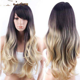 Wholesale Cosplay Wigs For Cheap - New Product Female Long Wavy Wig Heat Resistant Cheap Cosplay Wigs For Beauty Girl Lolita Wig With Side Bangs