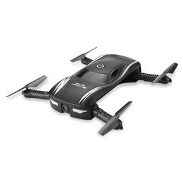 Wholesale Jxd Wifi - Selfie Drone Mini Dron With FPV Wifi Camera Foldable Quadcopter Pocket Drones RC Helicopter Altitude Hold vs JJRC H37 JXD 523 Hot
