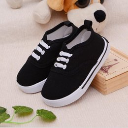 Wholesale Wholesale Shoes For Little Girls - Wholesale- Brand New Girls Boy's Fashion Canvas Breathable Sneakers Shoe For Children Size 13-17 Flats Heels Casual Shoes Little Big Kids
