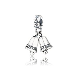 Wholesale Pandora Silver Bells - Authentic 925 Sterling Silver Beads Fit Pandora Bracelets Charm Christmas Bell Dangle European Style Diy Jewelry Making