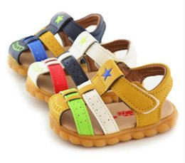 Wholesale Baby Boy Soft Sole Shoes - Baby Boy Sandals Summer Leather Soft Sole Shoes Free shipping